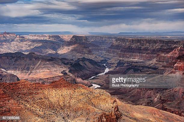 Grand Canyon National Park, spectacular view of the Colorado River. Grand Canyon Village, Arizona