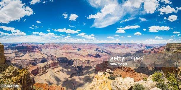 Grand Canyon panoramic view South Rim little fluffy clouds Arizona