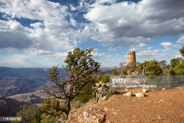 grand canyon, south rim - lookout tower stock pictures, royalty-free photos & images