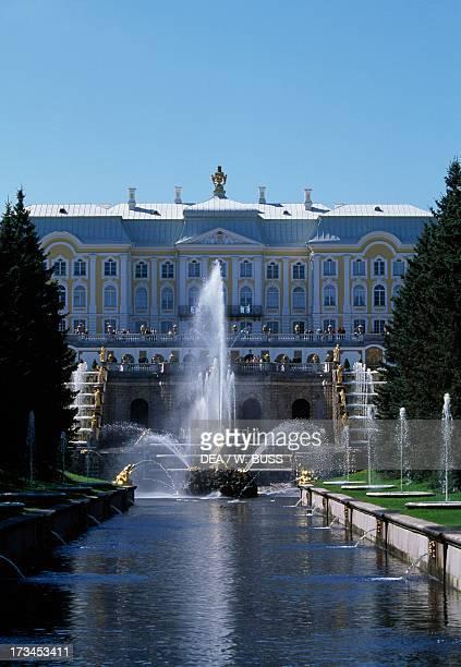 Grand Cascade , Peterhof , near St Petersburg, Russia.