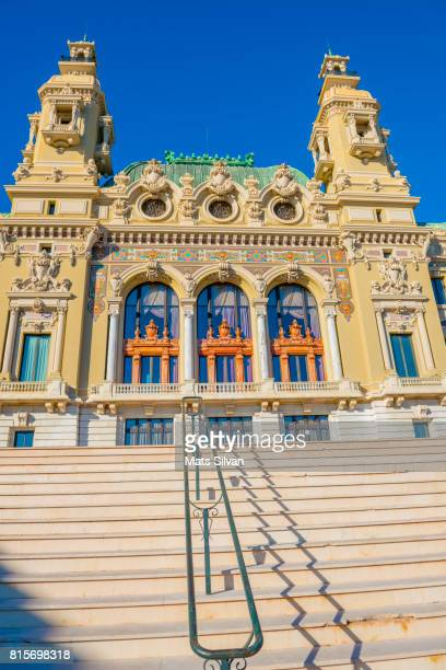 grand casino de monte carlo and staircase - monte carlo stock pictures, royalty-free photos & images