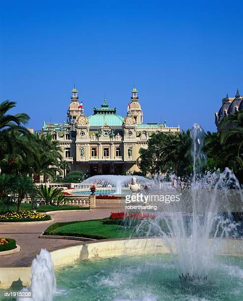 grand casino de monte carlo, monte carlo, monaco - monte carlo stockfoto's en -beelden