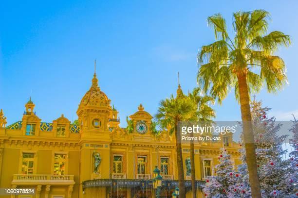 Grand Casino de Monte Carlo with Christmas Decoration and Tree in ProvenceAlpesCote dAzur Monaco