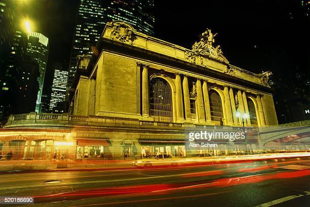 Grand Central Station illuminated at night, New York City, USA