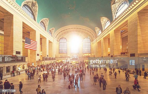 grand central station in new york - grand central station stock photos and pictures