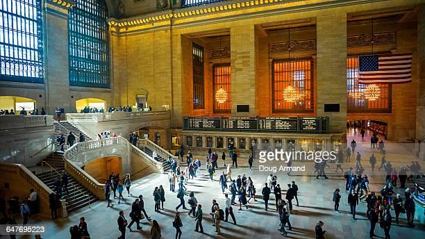 grand central station interior, new york, usa - グランドセントラル駅 ストックフォトと画像