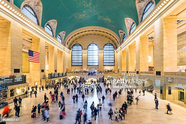 grand central station, new york city, usa - railroad station stock pictures, royalty-free photos & images