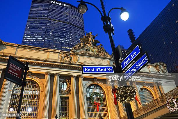 grand central station - metlife building stock pictures, royalty-free photos & images