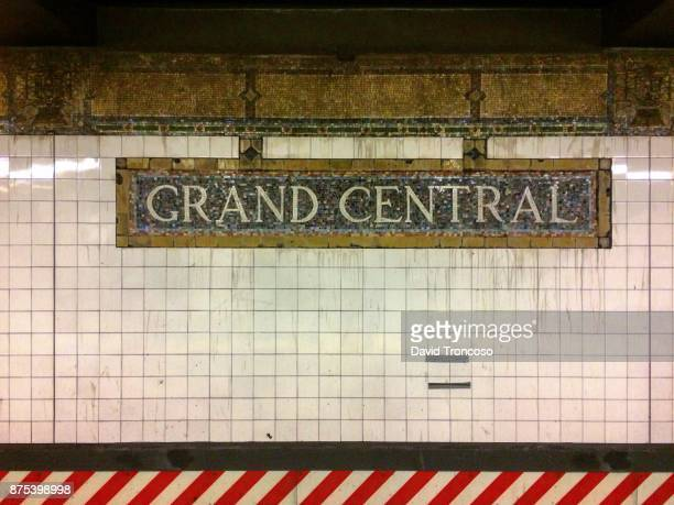 grand central subway station. - new york city subway stock pictures, royalty-free photos & images