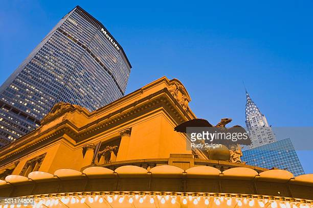 grand central terminal and metlife building - metlife building stock pictures, royalty-free photos & images