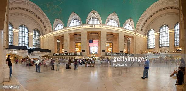 grand central terminal panorama - grand central station stock photos and pictures