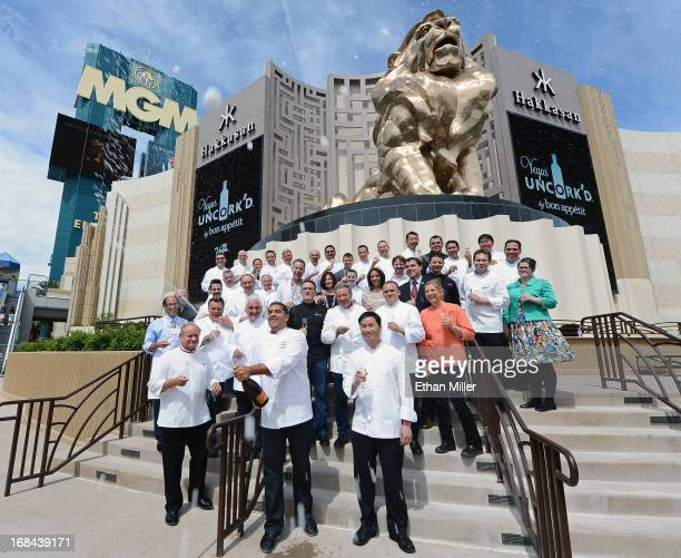 Grand chefs Joel Robuchon, Michael Mina and Ho Chee Boon, mark the beginning of the seventh annual Vegas Uncork'd by Bon Appetit culinary festival,...