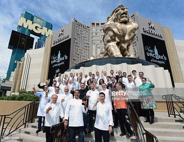 Grand chefs Joel Robuchon Michael Mina and Ho Chee Boon mark the beginning of the seventh annual Vegas Uncork'd by Bon Appetit culinary festival...