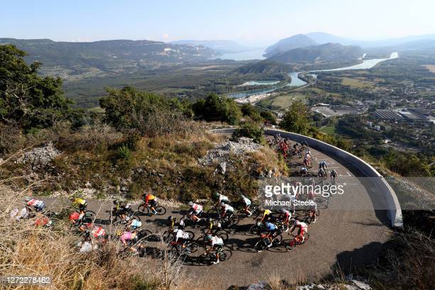 Grand Colombier / Landscape / Mountains / Peloton / during the 107th Tour de France 2020, Stage 15 a 174,5km stage from Lyon to Grand Colombier 1501m...