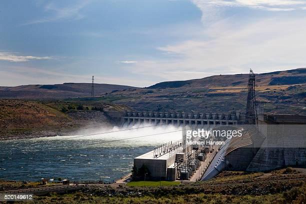 Grand Coulee Dam releasing water