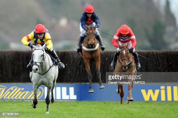 Grand Crus ridden by Tom Scudamore leads Silviniaco Conti ridden by Ruby Walsh and Bobs Worth ridden by Barry Geraghty during the williamhill.com...