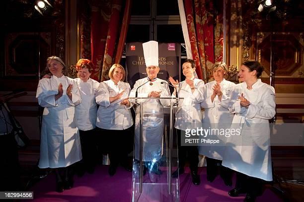 Grand Dinner Od Chefs For The 85 Birthday Of Paul Bocuse Pour le 85ème anniversaire de Paul BOCUSE six femmes chefs venues de plusieurs pays lui ont...