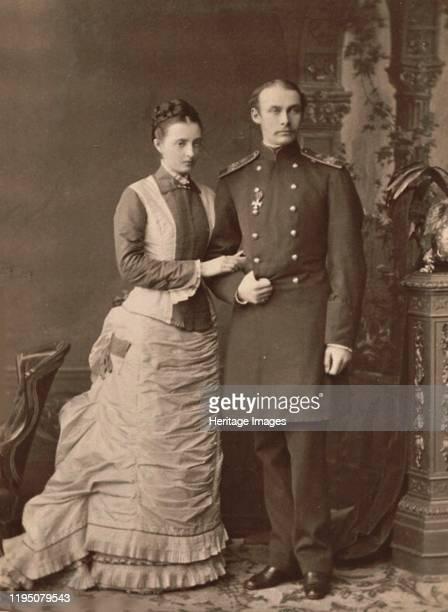 Grand Duchess Anastasia Mikhailovna of Russia and Grand Duke Frederick Francis III of Mecklenburg-Schwerin, 1878. Private Collection. Artist...