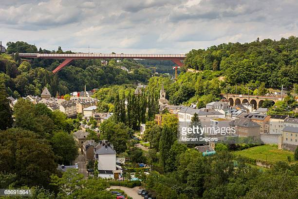 grand duchess charlotte bridge - grand duchess stock pictures, royalty-free photos & images