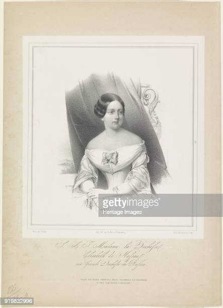 Grand Duchess Elizabeth Mikhailovna of Russia Duchess of Nassau ca 18441850 Found in the collection of Russian National Library St Petersburg