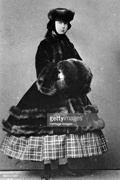 Grand Duchess Maria Alexandrovna of Russia c1861c1865 The daughter of Tsar Alexander II of Russia the Grand Duchess Maria Alexandrovna married Prince...