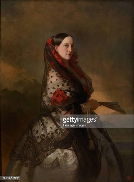 Grand Duchess Maria Nikolaevna of Russia Duchess of Leuchtenberg ca 18561857 Found in the collection of State A Radishchev Art Museum Saratov