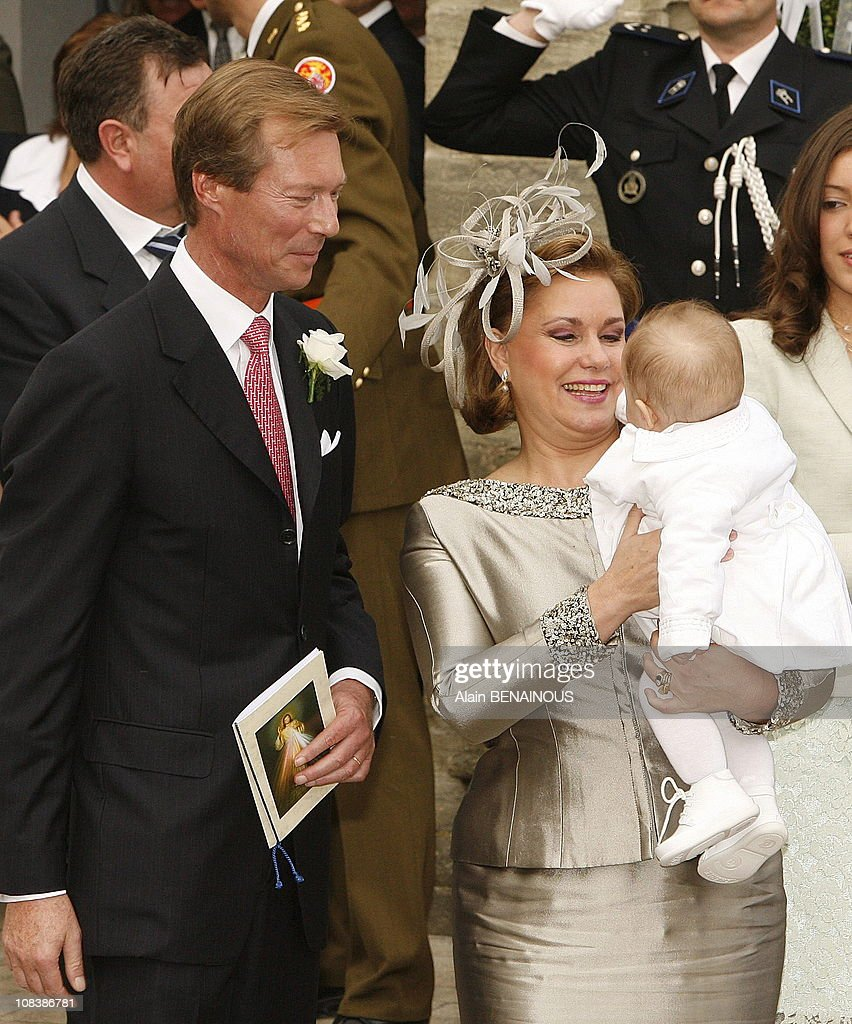 Wedding of Prince Louis of Luxembourg and Tessy Anthony at the Gilsdorf Church in Luxembourg on September 29, 2006. : News Photo