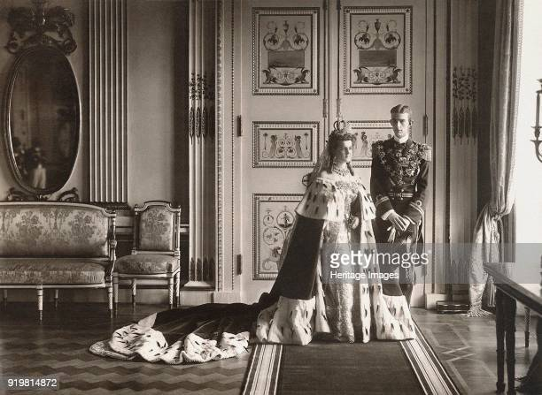Grand Duchess Maria Pavlovna and Prince Wilhelm Duke of Södermanland Wedding photo in Catherine Palace at Tsarskoye Selo 1908 Found in the collection...