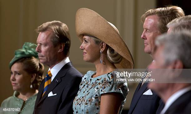Grand Duchess Maria Teresa and Grand Duke Henri of Luxembourg and Queen Maxima and King Willem-Alexander of the Netherlands attend a ceremony marking...