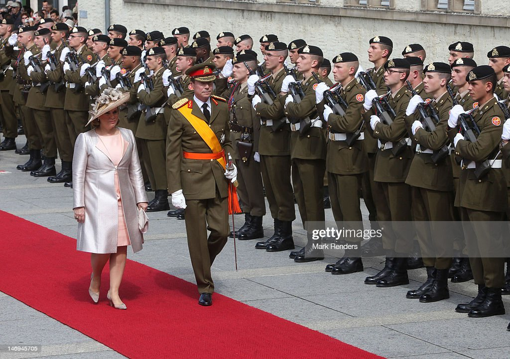 Grand Duchess Maria Teresa and Grand Duke Henri of Luxembourg assist National Day Celebrations on June 23, 2012 in Luxembourg, Luxembourg.