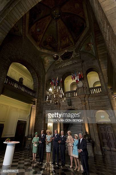 Grand Duchess Maria Teresa and Grand Duke Henri of Luxembourg, Queen Maxima and King Willem-Alexander of the Netherlands, King Filip and Queen...