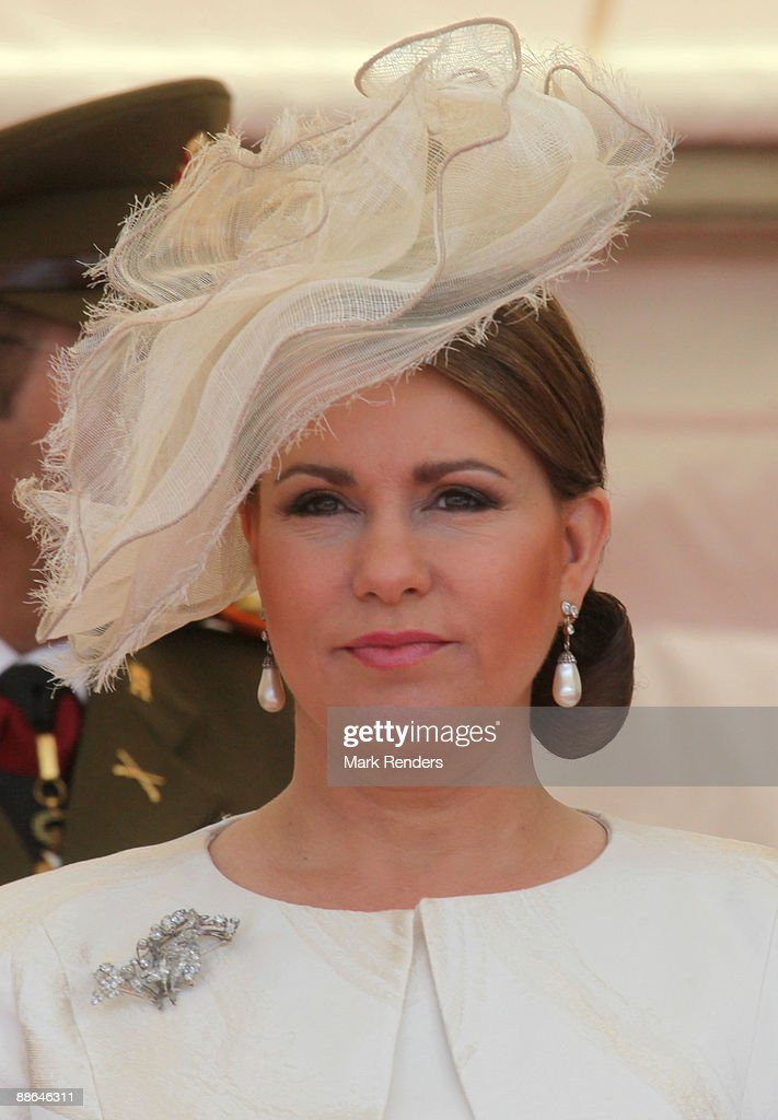 Grand Duchess Maria Teresa from Luxembourg assists the military Parade on National Day on June 23, 2009 in Luxembourg, Luxembourg.