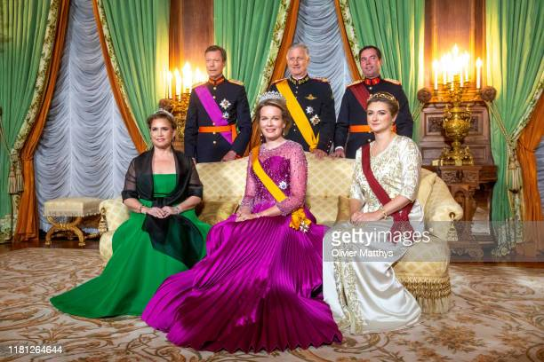 Grand Duchess Maria Teresa, Grand Duke Henri of Luxembourg, Queen Mathilde, King Philippe of Belgium, Hereditary Grand Duke Guillaume and Hereditary...