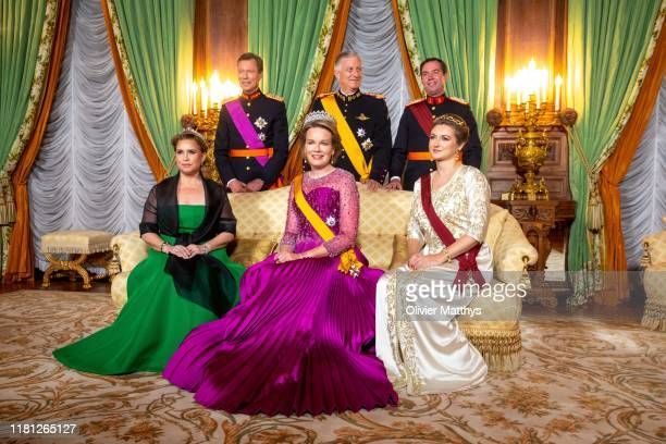 Grand Duchess Maria Teresa Grand Duke Henri of Luxembourg Queen Mathilde King Philippe of Belgium Hereditary Grand Duke Guillaume and Hereditary...