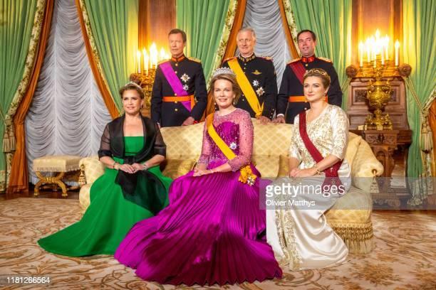 Grand Duchess Maria Teresa Grand Duke Henri of Luxembourg Queen Mathilde King Philippe of Belgium Hereditary Grand Duke Guillaume and Hereditary...