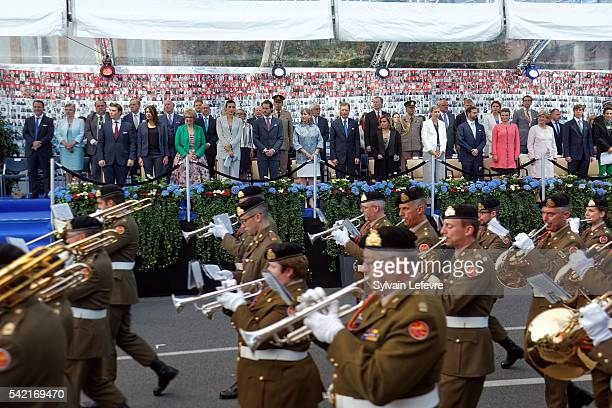 Grand Duchess Maria Teresa of Luxembourg and Grand Duke Henri of Luxembourg and family celebrate National Day on June 21 2016 in Luxembourg Luxembourg