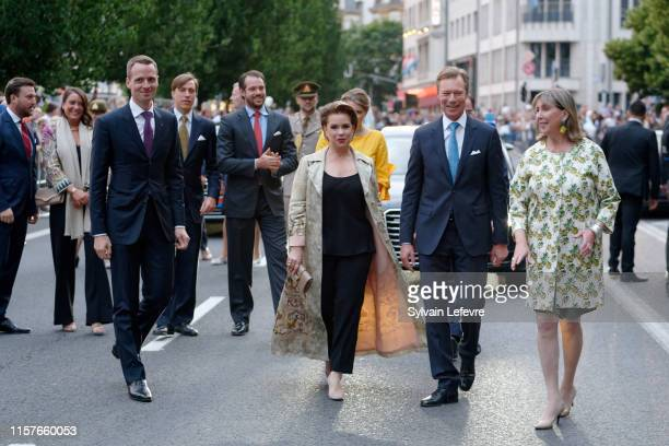Grand Duchess Maria Teresa of Luxembourg and Grand Duke Henri of Luxembourg celebrate National Day on June 22 2019 in Luxembourg Luxembourg