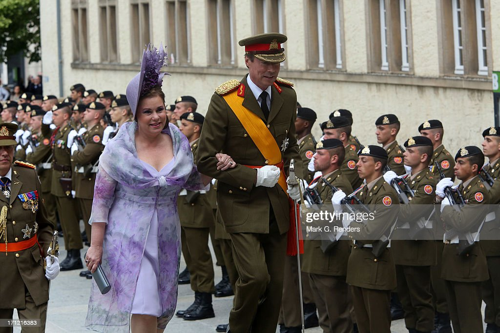 Grand Duchess Maria Teresa of Luxembourg and Grand Duke Henri of Luxembourg celebrate National Day on June 23, 2013 in Luxembourg, Luxembourg.