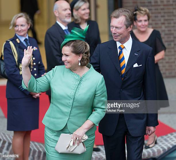 Grand Duchess Maria Teresa of Luxembourg and Grand Duke Henri of Luxembourg attend celebrations marking the 200th anniversary of the kingdom of The...