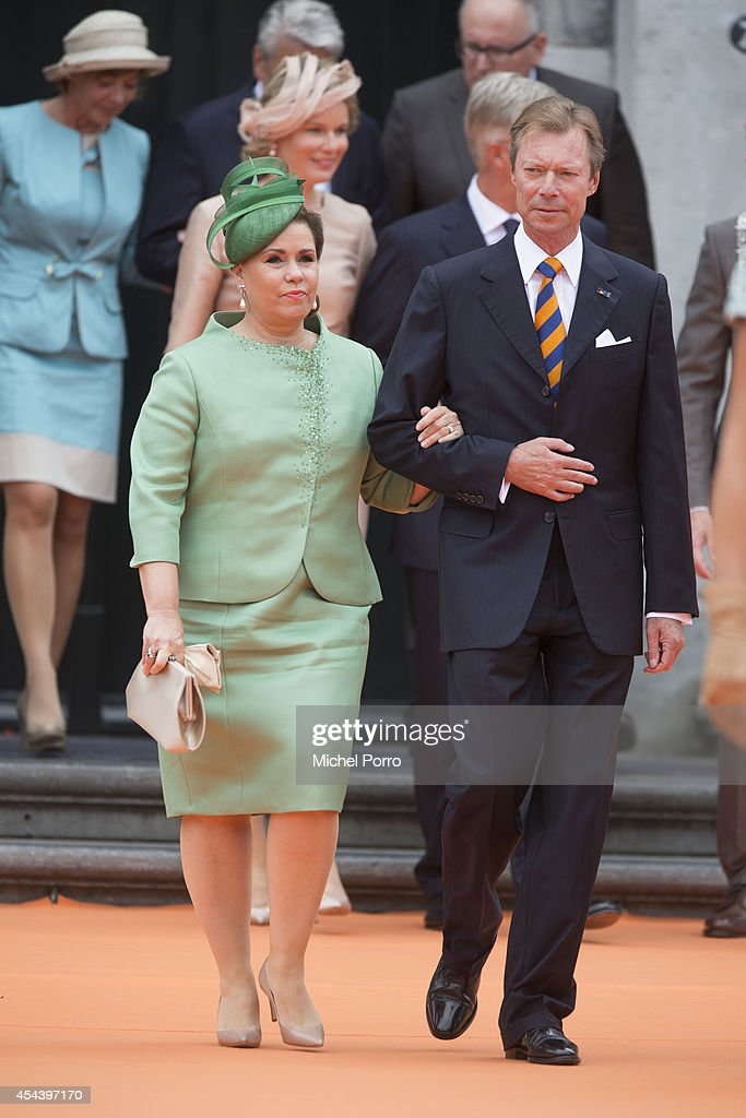 Grand Duchess Maria Teresa of Luxembourg and Grand Duke Henri of Luxembourg attend celebrations marking the 200th anniversary of the kingdom of The Netherlandson August 30, 2014 in Maastricht, The Netherlands.