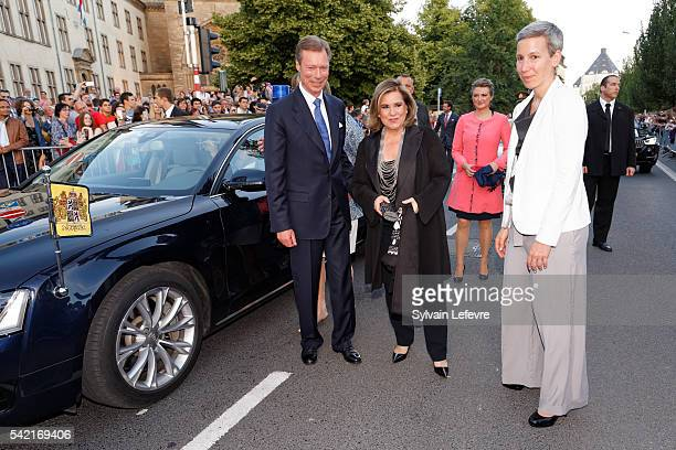 Grand Duchess Maria Teresa of Luxembourg and Grand Duke Henri of Luxembourg celebrate National Day on June 21 2016 in Luxembourg Luxembourg