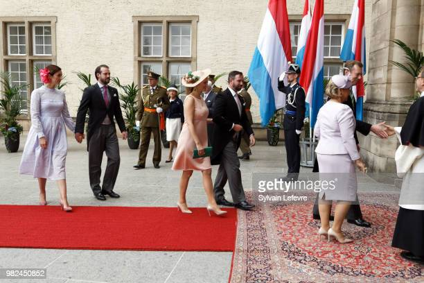 Grand Duchess Maria Teresa of Luxembourg and Grand Duke Henri of Luxembourg Princess Claire of Luxembourg and Prince Felix of Luxembourg Princess...