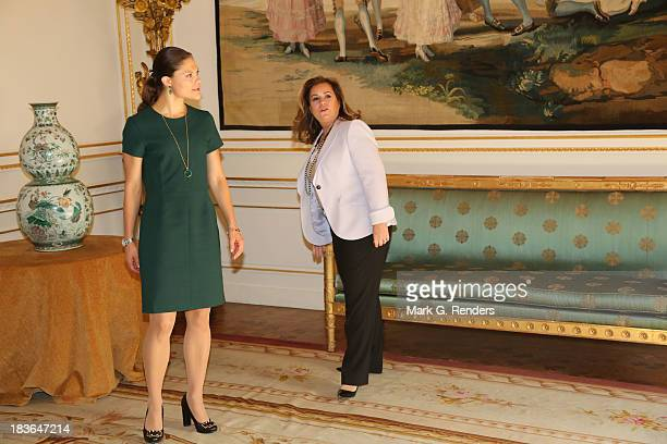 Grand Duchess Maria Teresa of Luxembourg and Princess Victoria of Sweden assist the Honorary Board of the International Paralympic Committee on...