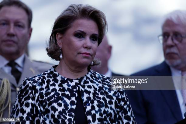 Grand Duchess Maria Teresa of Luxembourg attends celebrations of National Day on June 22 2017 in Luxembourg Luxembourg