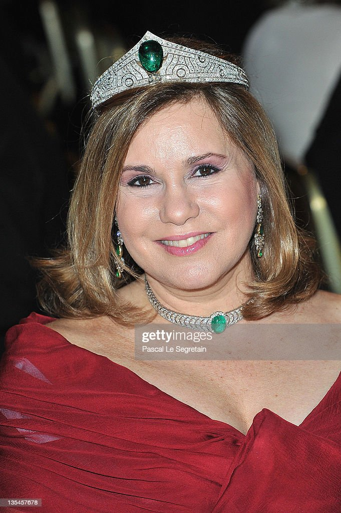 Grand Duchess Maria Teresa of Luxembourg attends the Nobel Banquet at the City Hall on December 10, 2011 in Stockholm, Sweden.