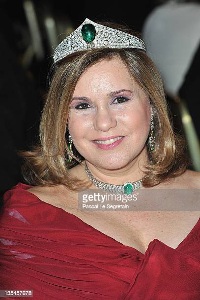 Grand Duchess Maria Teresa of Luxembourg attends the Nobel Banquet at the City Hall on December 10 2011 in Stockholm Sweden