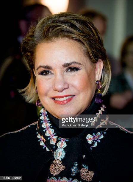 Grand Duchess Maria Teresa of Luxembourg during the Dr Denis Mukwege Symposium in the Nieuwe Kerk on November 28 2018 in The Hague Netherlands