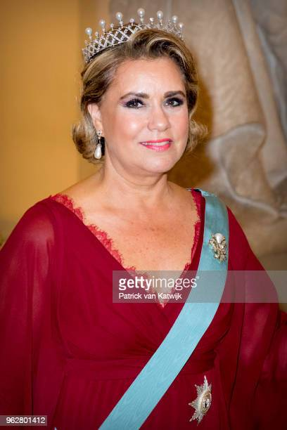 Grand Duchess Maria Teresa of Luxembourg during the gala banquet on the occasion of The Crown Prince's 50th birthday at Christiansborg Palace Chapel...