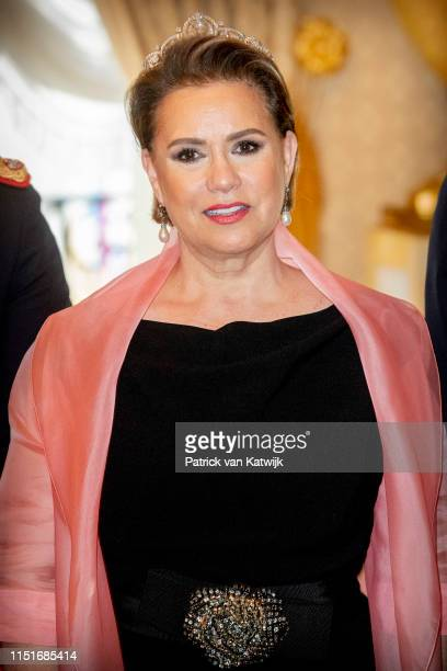 Grand Duchess Maria Teresa of Luxembourg during the reception at the Grand Ducal Palace on the National Day on June 23, 2019 in Luxembourg,...