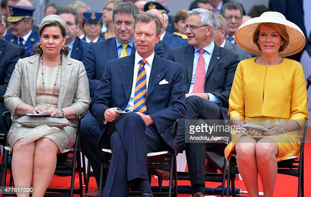 Grand Duchess Maria Teresa of Luxembourg Grand Duke Henri of Luxembourg and Queen Mathilde of Belgium attend the commemorations marking the 200th...
